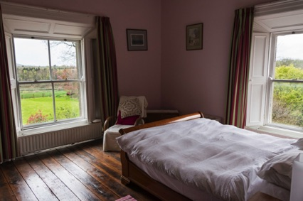 Pink bedroom, with ensuite (not shown)
